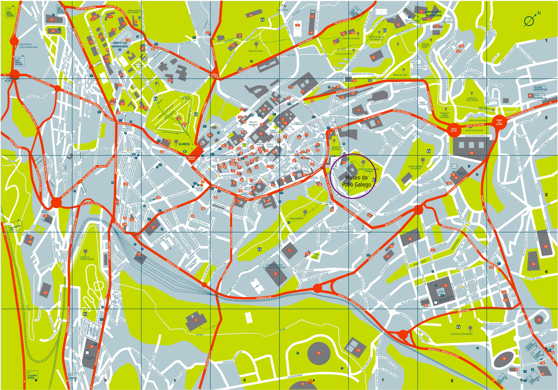 Callejero Mapa De Santiago De Compostela.Venue Spanish Conference On Electron Devices